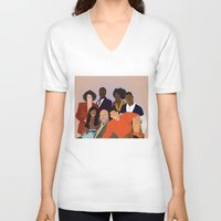 fresh prince V-neck T-shirts featuring The Fresh Prince by Jara Montez