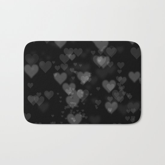 Black Hearts 01 Bath Mat