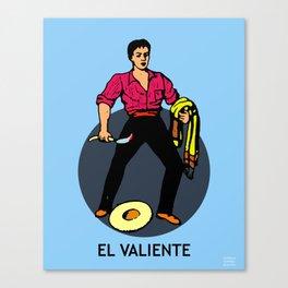 El Valiente Mexican Loteria Card  Canvas Print