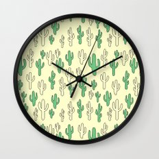 Cactus in Yellow Palette Wall Clock