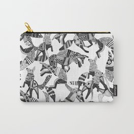 woodland fox party black white Carry-All Pouch