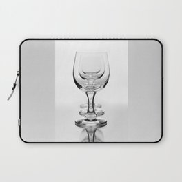 Three empty wine glasses in a row Laptop Sleeve