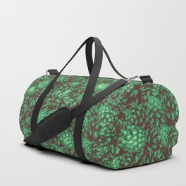 Scent of Pine RETRO GREEN / Photograph of pine cones Duffle Bag