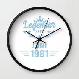 40 Geburtstag im Juni 1981 Wall Clock