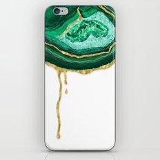 Green Dripping Agate iPhone & iPod Skin