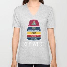 Southernmost Point - Key West Florida Keys Souvenir for Island Lovers Unisex V-Neck