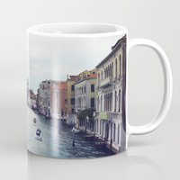 venice Mugs featuring Venice by Rhianna Power