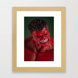 Red Hulk Framed Art Print