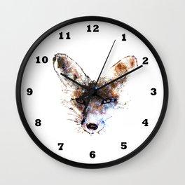 Stars in a Fox Wall Clock