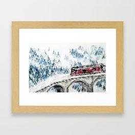 Winter Travel Framed Art Print
