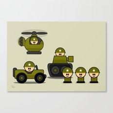 Mini Soldiers Canvas Print
