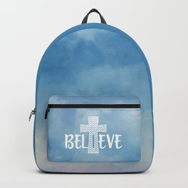 Believe Bible Quote Backpack