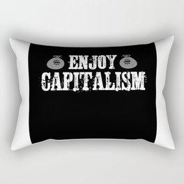 Enjoy Capitalism Gift Idea Design Motif Rectangular Pillow
