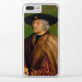 Albrecht Durer - Portrait Of Maximilian I Clear iPhone Case