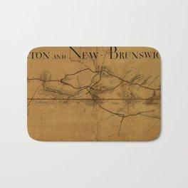 Trenton New Brunswick Turnpike 1800 Bath Mat