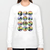 sports Long Sleeve T-shirts featuring Outdoor sports by Paul Simms