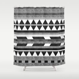 DG Aztec No.1 Monotone Shower Curtain