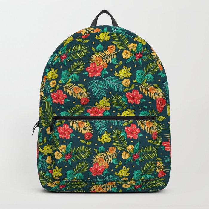 Tropical flowers Backpack