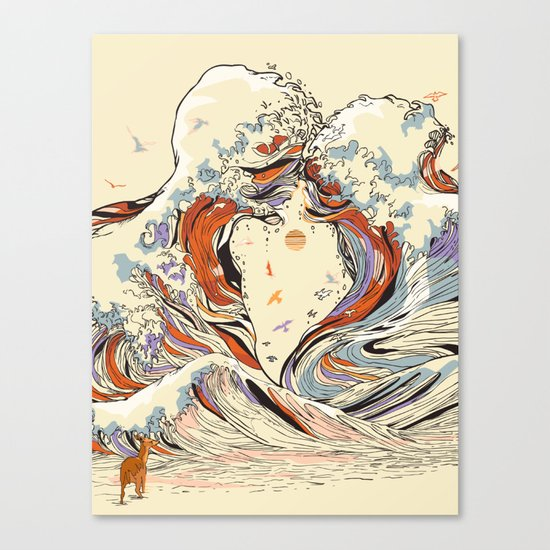 The Wave of Love Canvas Print