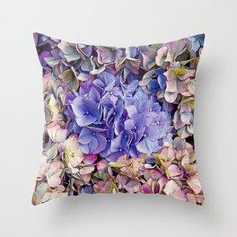 LATE BLOOMER HYDRANGEA Throw Pillow