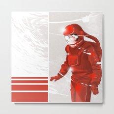 Hiroko in Storm // (astronaut girl) Metal Print