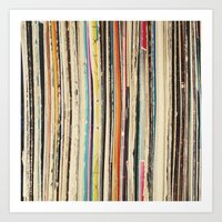 record Art Prints featuring Record Collection by Cassia Beck