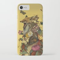 music iPhone & iPod Cases featuring Fox Confessor by Lindsey Carr
