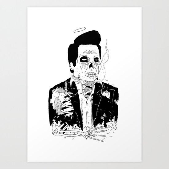 Dead Famous - Cash Art Print