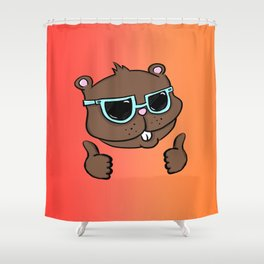 Thumbs Up Gopher Shower Curtain