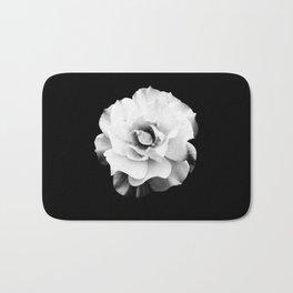 Black and White Rose Blossom... Bath Mat