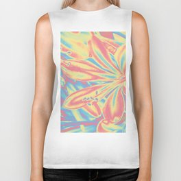 colorful blossoms Biker Tank