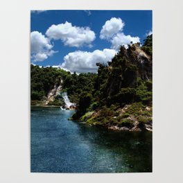 Frying Pan Lake, New Zealand Landscape Poster