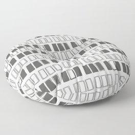 Blocks White/Grey Floor Pillow