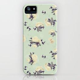 Ranunculus & eucalyptus pattern iPhone Case