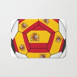 Soccer ball with Spanish flag Bath Mat