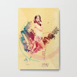 Summer Skating Jam Metal Print