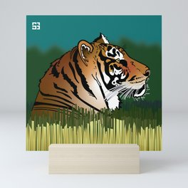 Alphabetic Animals: Tiger in the Field Mini Art Print