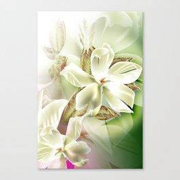 Dreamy White Flowers Canvas Print