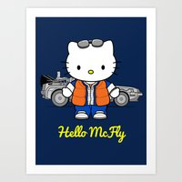 mcfly Art Prints featuring Hello McFly by The Epic Effect