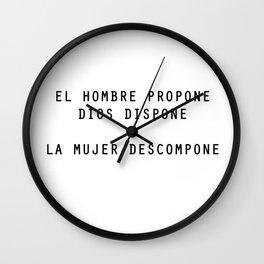 PAROLE POVERE Wall Clock