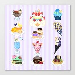 Sailor Senshi Sweets Canvas Print
