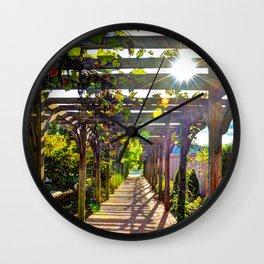 Grape Arbor Wall Clock