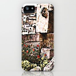Sassi di Matera: stones and flowers iPhone Case