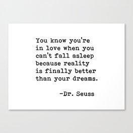 Dr. Seuss Quote 09 Canvas Print