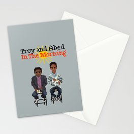 Troy And Abed In the Morning Stationery Cards