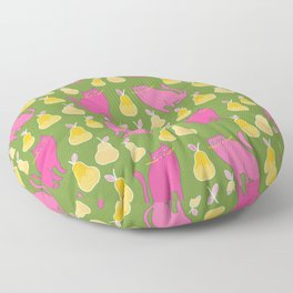 Pattern Project #28 / Cats & Pears Floor Pillow