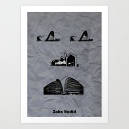 Zaha Hadid Art Print