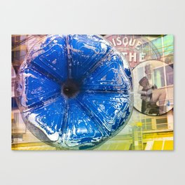 Musical Blue Mood, Flowers Photography Canvas Print