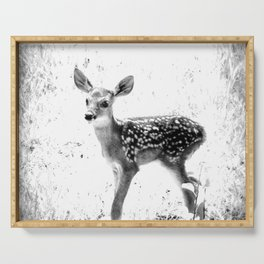 The Sweetest fawn Black & White Serving Tray