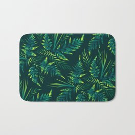 Fern leaves - green Bath Mat